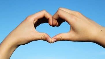 coeur avec les mains doigts