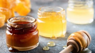 pots de miel différents
