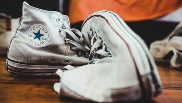 converse chaussures en tissu blanches sales