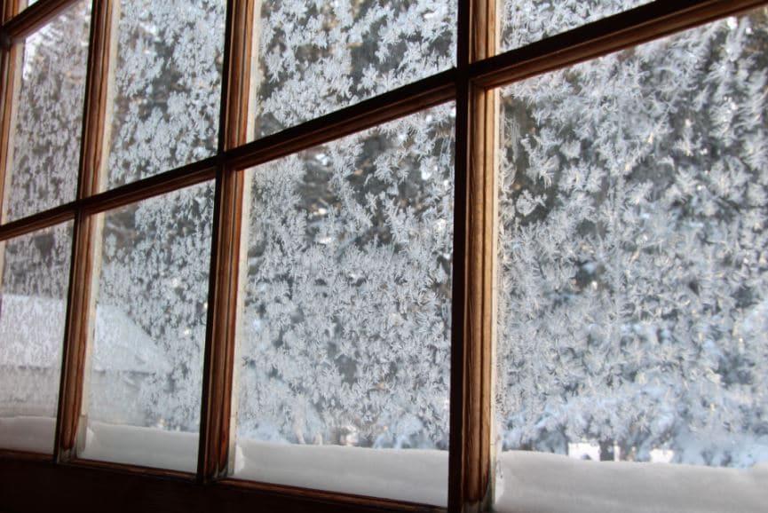 fenêtres gel froid neige
