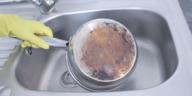 nettoyer dos dessous casserole poêle