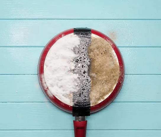 sel et sucre ou bicarbonate humidifiés