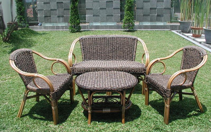 mobilier de jardin en rotin