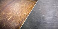 rayures sur différentes surfaces bois métal