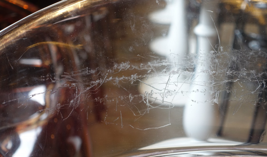 rayures surfaces en verre