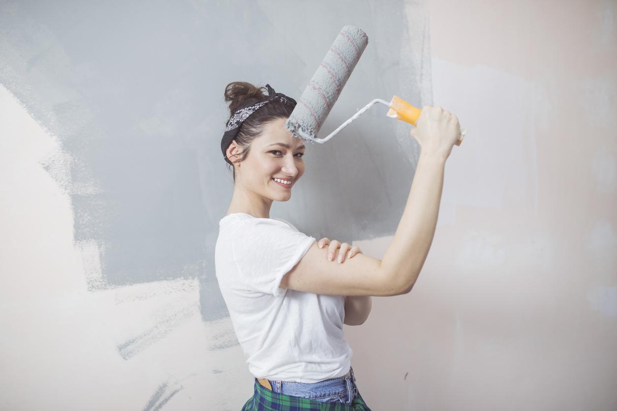 peindre peinture rouleau