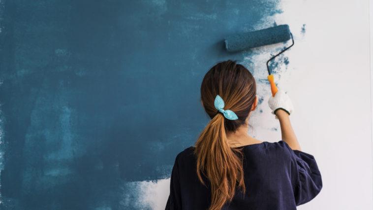 peinture mur au rouleau peindre