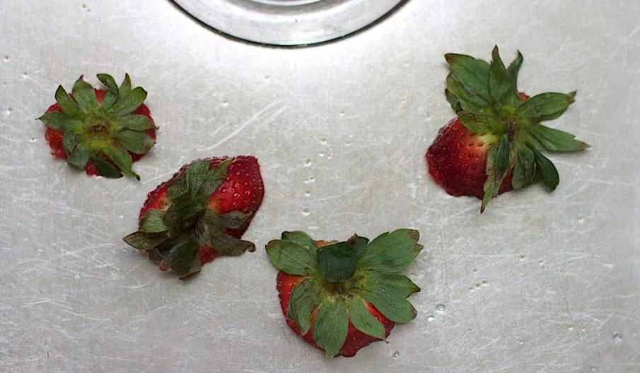 queues de fraises fruit