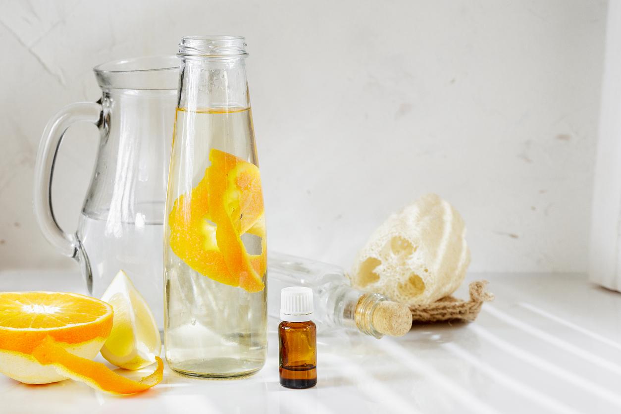 vinaigre blanc huile essentielle agrumes