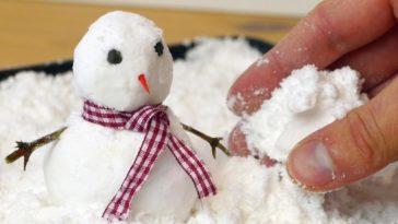 fausse neige décorations de Noël