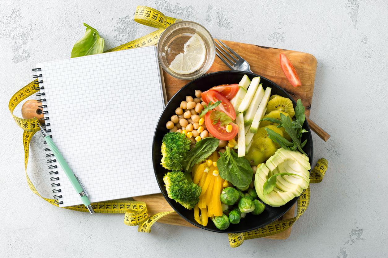 Vegan healthy aliments sains salade