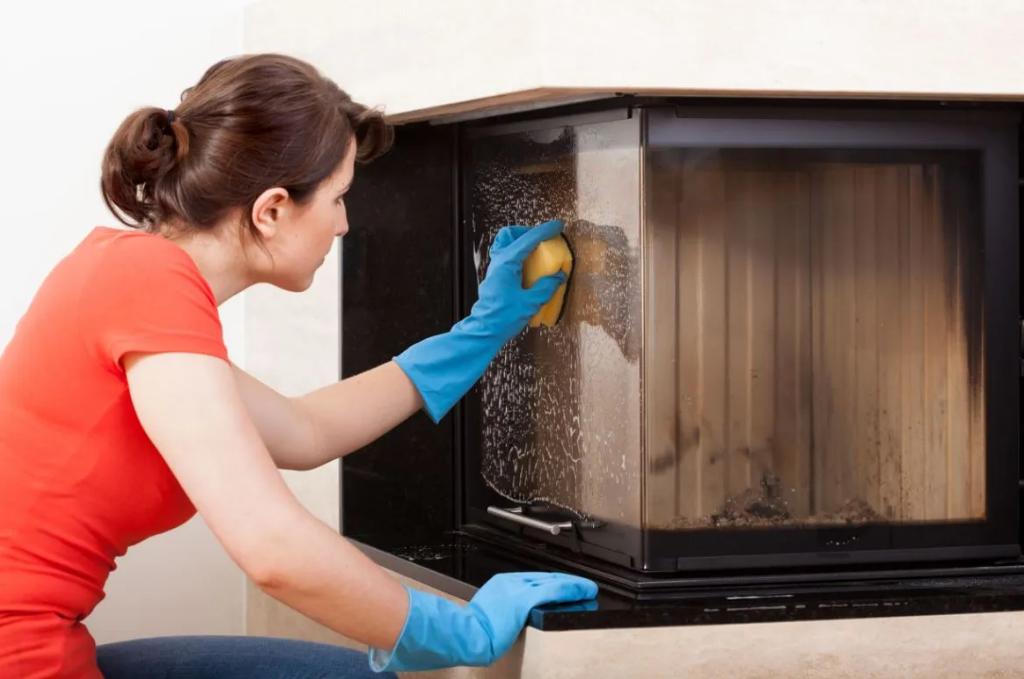 nettoyer vitre cheminée poêle à bois