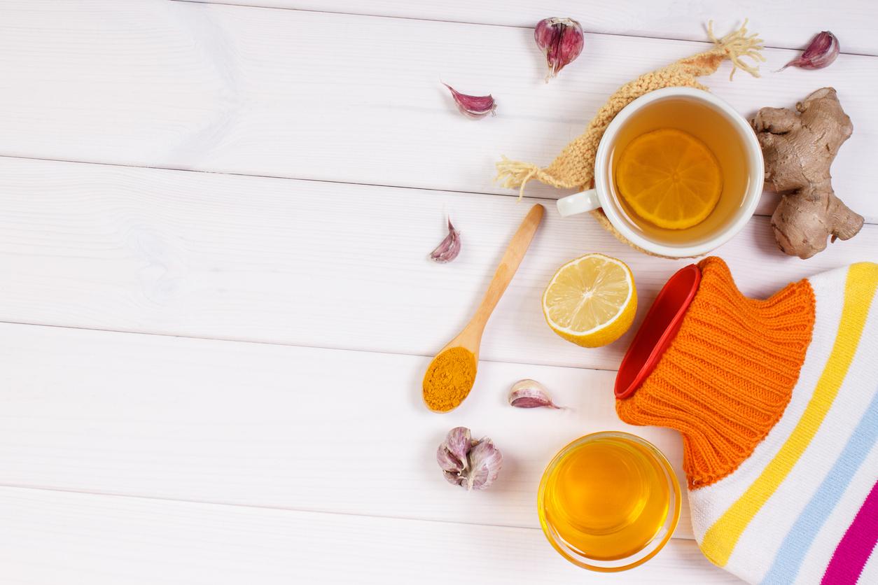 citron gingembre ail infusion antibiotique naturel hiver