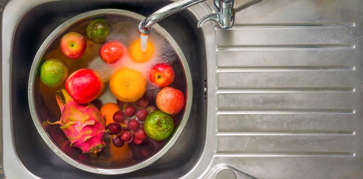 laver fruits et légumes