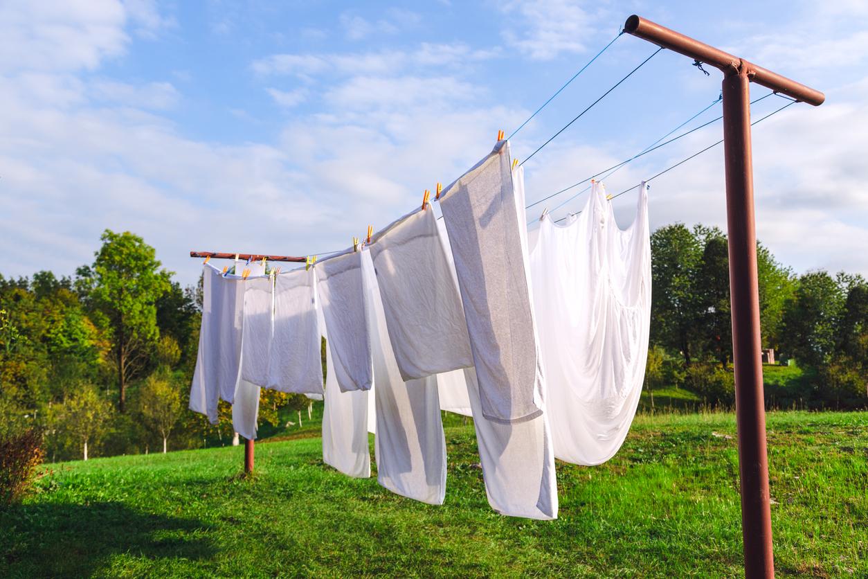 séchage des draps après lavage