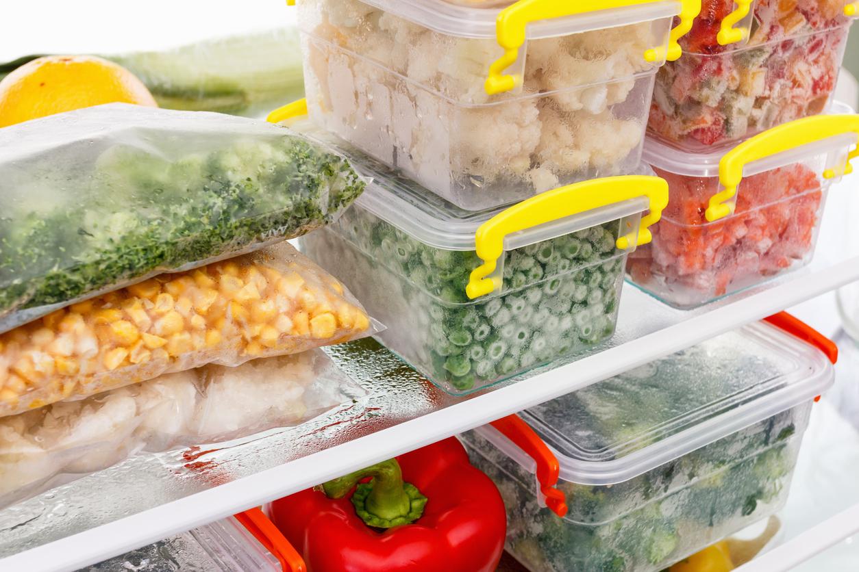aliments congelés frigo réfrigérateur