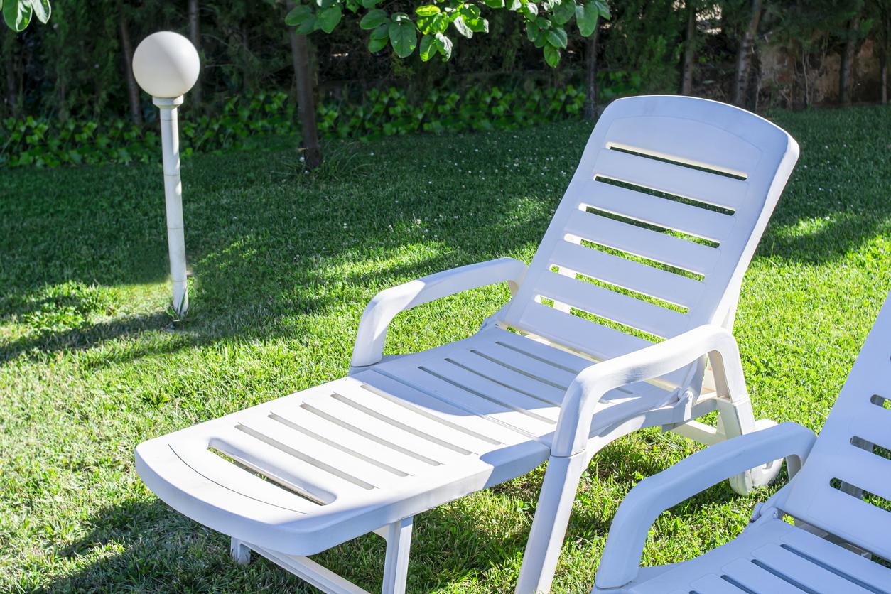 meuble mobilier de jardin plastique blanc