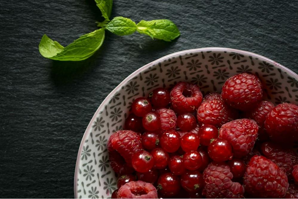 fruits rouges framboises