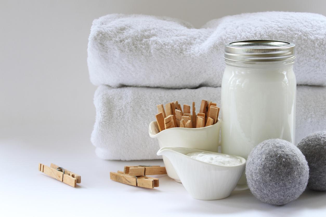 linge blanc serviettes lessive écologique