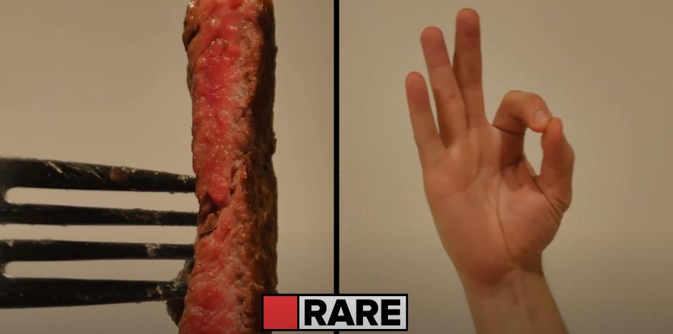 cuisson saignante viande steak