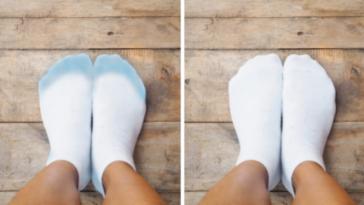 chaussures qui déteignent sur les chaussettes