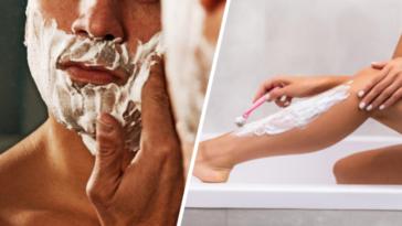 mousse à raser rasage visage corps