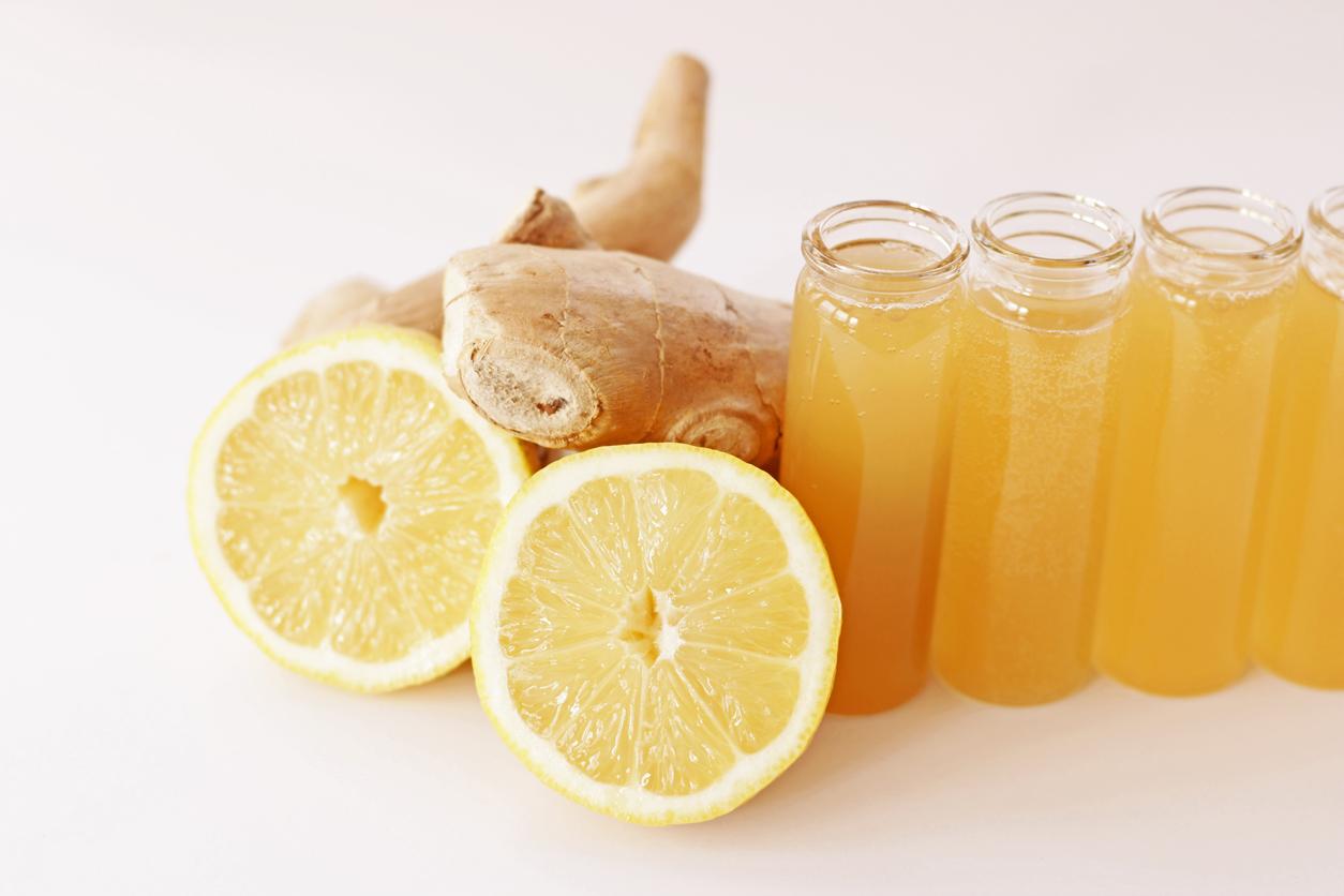 gingembre citron immunity shot