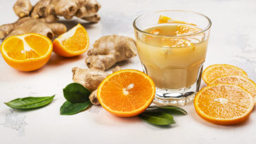 boisson immunity shot gingembre orange curcuma et autres ingrédients santé
